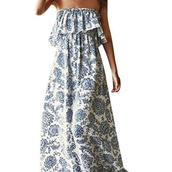 3fda710043 (NWT) Strapless Maxi Dress - Boho design
